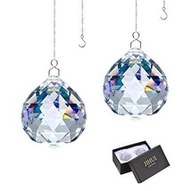 JIHUI Suncatcher Crystals Ball Prism Window Rainbow Maker with Chain for Easy Ha