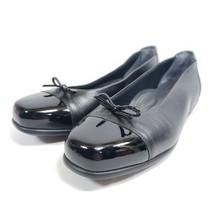 SAS Cap Toe Ballet Flats Women's Size 8.5 Black Leather - $37.05