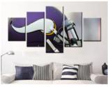 5 panels minnesota vikings helmet painting canvas wall art picture home d cor thumb155 crop
