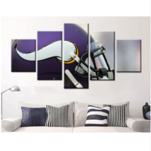 5 Piece Minnesota Vikings Helmet Team Canvas Painting Frames Wall Art Ho... - $25.95+