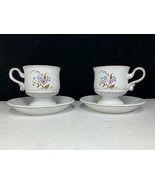 2 Sets Denby Langley LORRAINE England Butterfly Coffee Cup & Saucer Sets... - $12.86