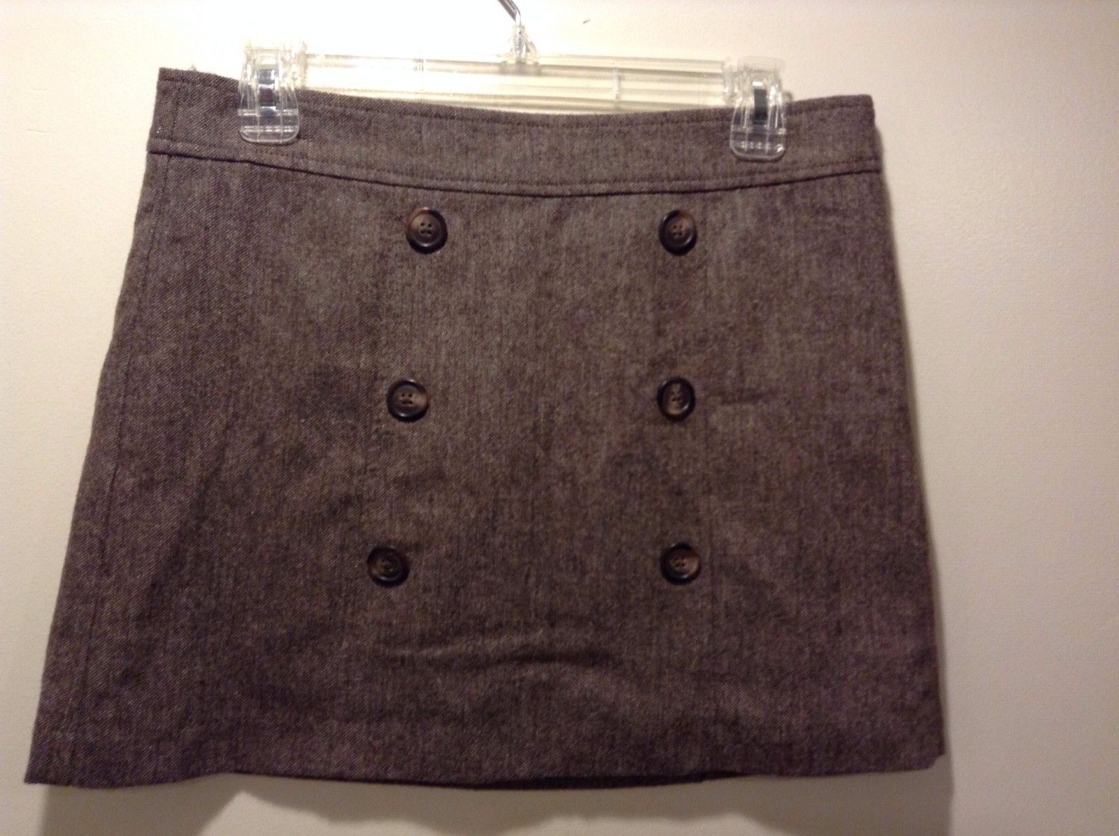 Cute Brown GAP Mini Skirt w Tan Brown Weave Design Sz 4