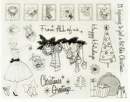 Vintage Christmas Stamps, 21 Stamps, Happy Holidays image 2