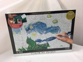 Vincent Van Gogh Starry Night 300 Piece Color Me Jigsaw Puzzle Eurographics  - $40.87