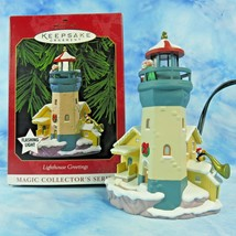 Hallmark Lighthouse Greetings Xmas Ornament 3rd in Magic Collectors Series 1999 - $22.72