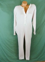 Early Vtg Victorias Secret Large Thermal Long Jane One Piece Pajamas  - $128.65