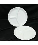 "Corelle Winter Frost White Divided Dinner Plates 10.25"" Lot of 2 - $29.39"