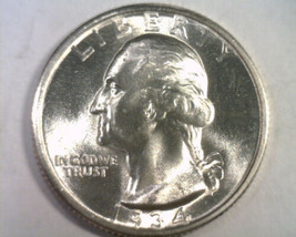 1934 WASHINGTON QUARTER GEM UNCIRCULATED GEM UNC. NICE ORIGINAL COIN BOB... - $94.00
