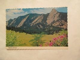Flatiron rocks near boulder Colorado CO Continental Sized Postcard - $2.49
