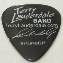 TERRY LAUDERDALE BAND  Guitar Pick Project Tour Black w White Lettering - $10.76