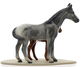 Hagen-Renaker Miniature Ceramic Horse Figurine Appaloosa Mare and Colt on Base image 4