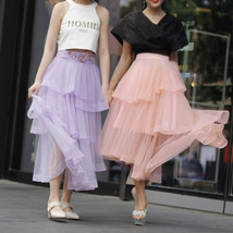High Waist Hi-lo Layered Tulle Skirt Outfit Plus Size Wedding Outfit Bridesmaid image 7