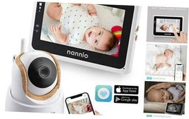 Nannio Connect Video Baby Monitor with Mobile APP 4.3 inch Touch Screen ... - £143.86 GBP