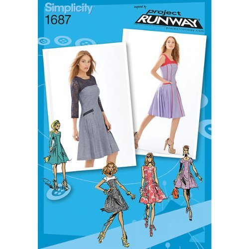 Simplicity 1687 Misses' and Miss Petite Dress Project Runway Collection Sewing P - $13.48