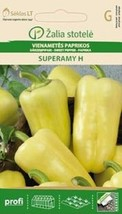 Bell Papper Superamy H Early, Fruits Is Yellowish-White, 110-130 G Plants Tall - $2.79