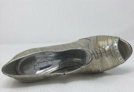 Jessica Simpson NICHOLA Metallic Booties heels Iridescent Patent leather 8.5 image 9