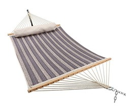 ELC 11 Feet Double Quilted Fabric Hammock with Pillow, Hammocks with Bam... - $108.35