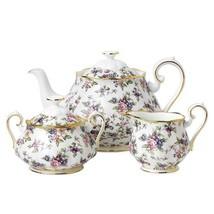 Royal Albert 100 Years of 1940 English Chintz 3-Piece Tea Set #40017572 New - $248.24