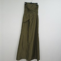 David's Bridal Bridesmaid Green Strapless Dress Size 4 F13565 - $13.85