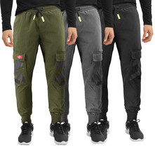 Men's Casual Cargo Pocket Pants Gym Workout Athletic Sport Drawstring Joggers image 1