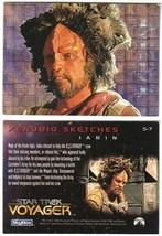 Star Trek Voyager Jabin Xenobio Sketches Foil Card S7 Skybox 1995 NEAR MINT - $4.99