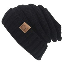 Winter Hats Women Cap Crochet Knit Thermal Slouchy Beanie Hat / Black - €12,87 EUR