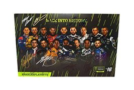 16X Autographed Monster Energy Cup Series First Nascar Playoffs (Race Into Histo - $449.96