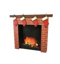 3D Christmas Holiday Brick Fireplace Cardboard Standup Standee Cutout 2569 - $39.95