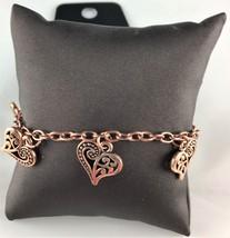 Paparazzi Bracelet Necklace Ornate Filigree Details Copper Heart Charms ... - $5.00