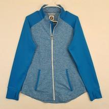 Footjoy Ladies Long Sleeve Full Zip Space Dye Golf Jacket Sz L Blue Fj - $42.03