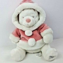 "Disney Store Snowball Winnie The Pooh Plush 12"" Stuffed Animal White Pin... - $29.70"