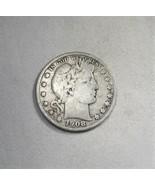 1908-S Silver Barber Half Dollar VG Coin AJ-589 - $26.06