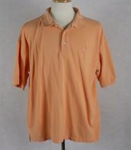 IZOD Mens Orange Silk Wash 100% Cotton Polo Shirt Size 2XLT - $13.85