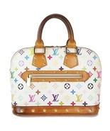 Authentic LOUIS VUITTON Alma White Multicolor Monogram Hand Bag Purse #3... - $475.00