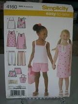 Simplicity 4160 Dress, Top, Halter Top, Cropped Pants & Shorts Pattern -... - $7.91