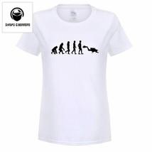 Summer Woman Funny Dive T Shirt Girl Short Sleeve Evolution Of Scuba Div... - $15.88