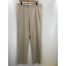 Nordstrom Mens Beige Flat Pockets Classic Solid Cotton Dress Pants Size ... - $21.55