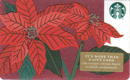 Starbucks 2018 Poinsettia Collectible Gift Card New No Value - $3.99