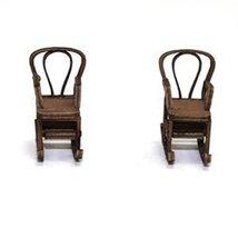 4Ground 28mm Furniture: Light Wood Bentwood Rocking Chair