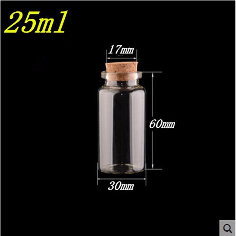 Glass Empty Bottle Cork Vials Jars Portable Decoration Refillable Containers