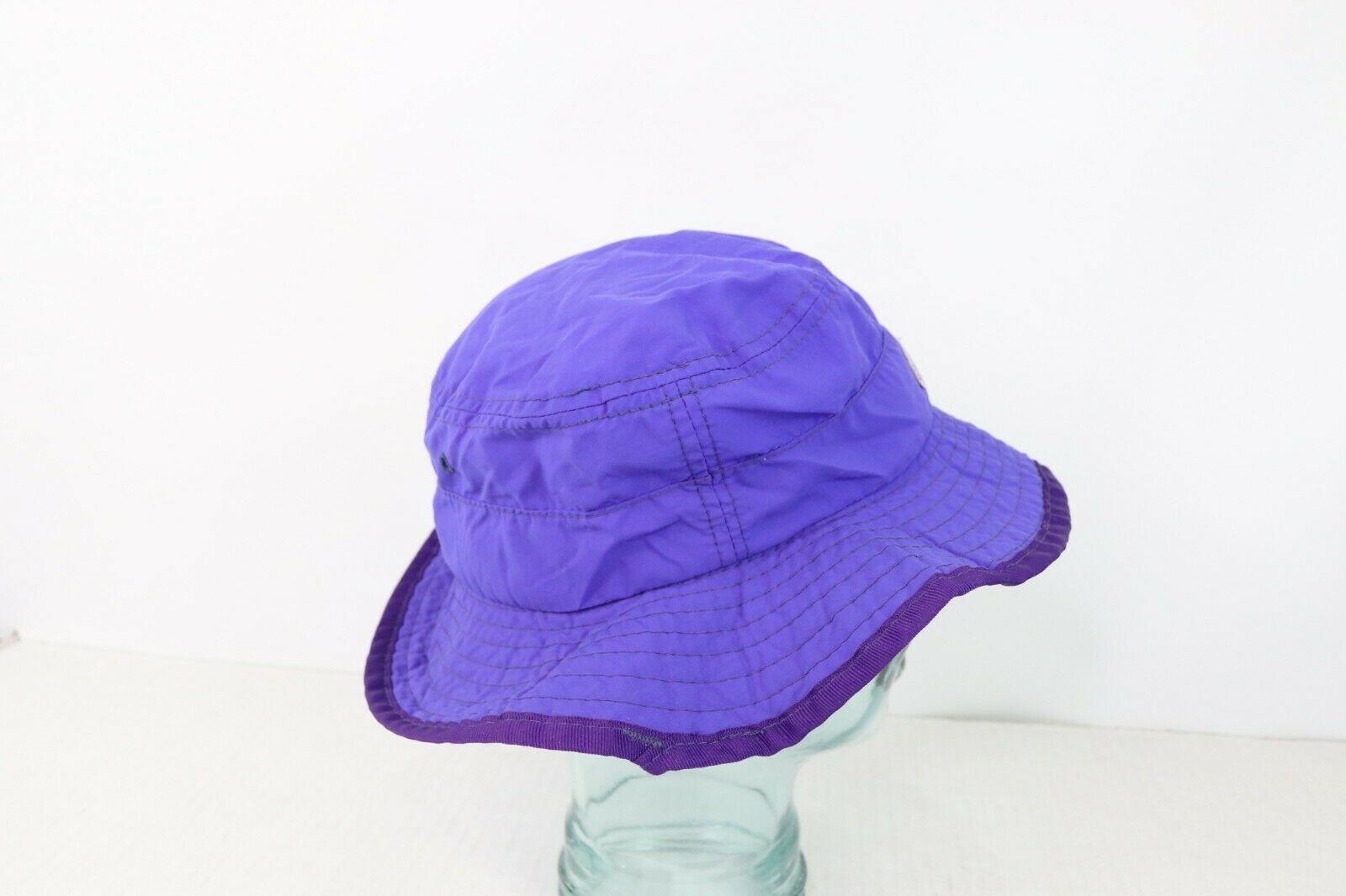Vintage 90s Columbia Unisex Medium Spell Out Boonie Bucket Hat Cap Purple USA