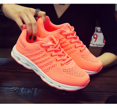 pa031 low-cut air cushion sneaker w breathable mesh surface, US Size 6-9, orange - $38.80