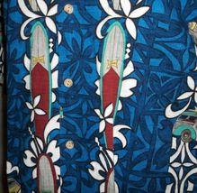 RJC Hawaiian Barkcloth Shirt Mens Large Surfboard Woody Vintage Cars Rockabilly image 5