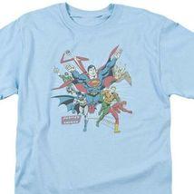 Justice League of America JLA Superman Aquaman Hawkman graphic t-shirt DCO441 image 3