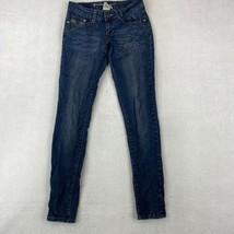 Friction Jeans Skinny Ankle Denim Women's 1 Blue Low Rise Dark Wash Rhin... - $18.95