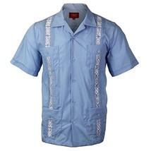 Guayabera Men's Cuban Beach Wedding Short Sleeve Button-Up Casual Dress Shirt (3