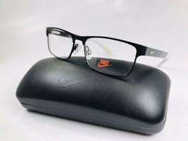 New KIDS NIKE 5574 015 Satin Black & Volt Eyeglasses 50mm with Nike Case - $84.05