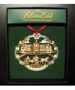 Biltmore Estate Christmas Ornament 2006 24 Kt Gold Finish Red Ribbon Han... - $12.99