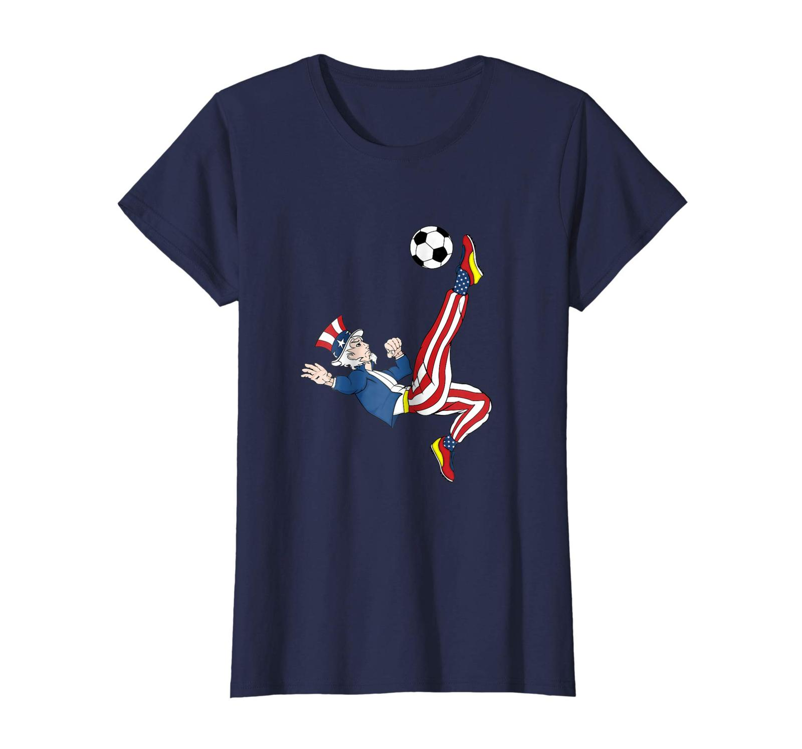 New Shirts - Uncle Sam Soccer American Flag T-Shirt Patriotic Merica Wowen