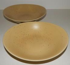 2 Studio Nova Domani Beige Soup Bowls Mikasa Brown Tan Speckled Oval MW002 - $29.69